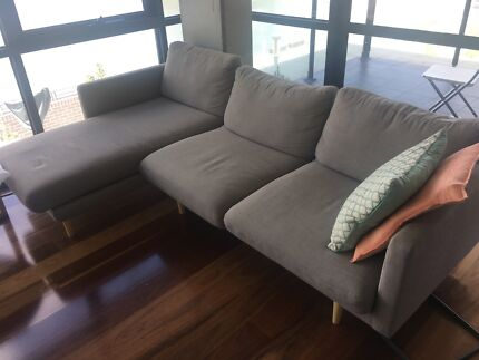 Modular couch with coffee table