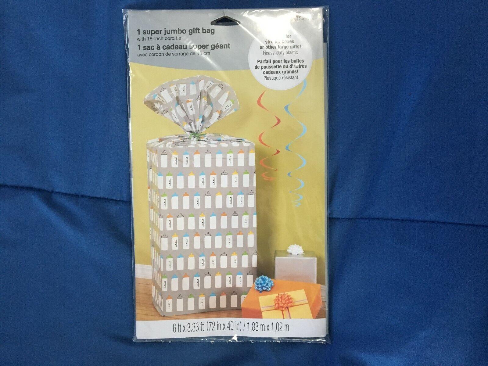 "1 American Greetings Jumbo Gift Bag  40"" X 72"" *NEW*"