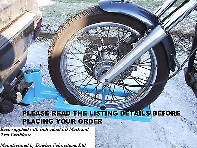 TRIKE QUICK RELEASE TOWING FRAME / DOLLY with individual ID mark and test cert.