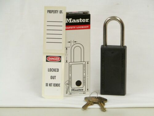 REDUCED NEW Master Lock Safety Lockout Padlock #4112KEYBLK