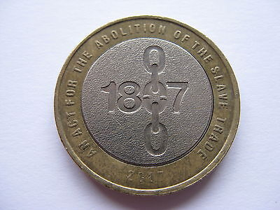 Rare £2 Two Pound Coin Abolition Of Slavery 1807 Anniversary Dated 2007 Error?