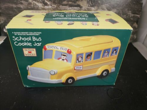 BE Boston Warehouse Susan Winget School Bus Cookie Jar
