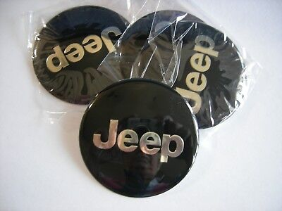JEEP  WHEEL CENTER CAP  EMBLEMS SET 4 ALUMINUM STICKERS DECAL 2 1/2""