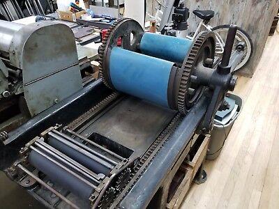 Vandercook Roller Series No. 20 Cylinder Galley Press Letterpress Proof Press
