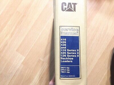 Caterpillar 416 436 Series Ii Backhoe Loader Factory Service Manual Oem