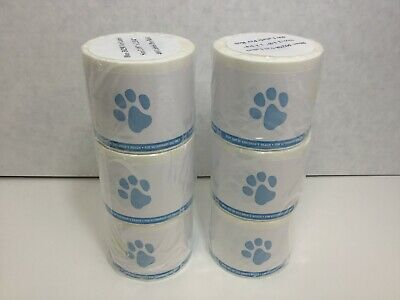 Veterinary Prescription Labels Blue Paw Print Warning 2-18 X 2-34 6 Rolls