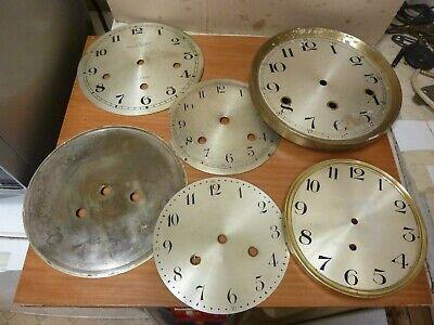 LOT USEFUL OLD BRACKET-MANTLE CLOCK DIALS -- (M)