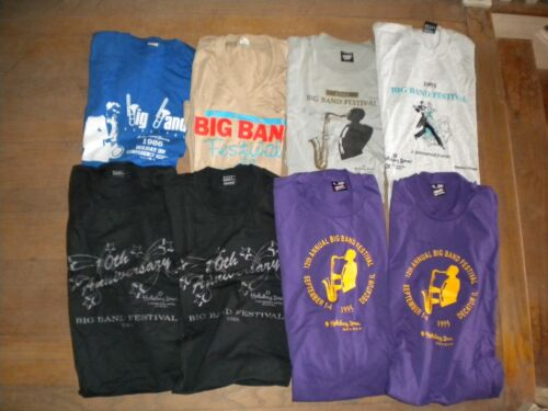 Ten Big Band Festival Decatur Illinois Vintage Collectible T-Shirts New Made USA