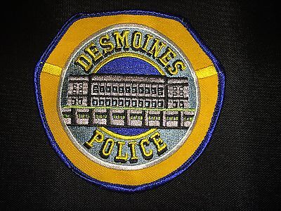 DES MOINES IOWA POLICE OBSOLETE UNIFORM PATCH NEW