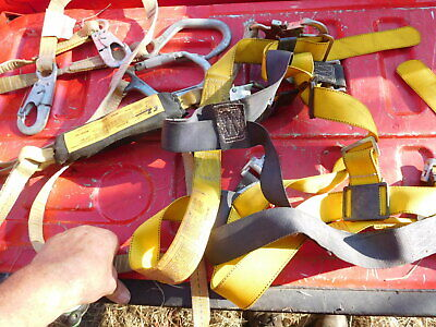 Safety Fall Protection Climbing Body Harness Miller Snaps Ez Stop With Lanyards