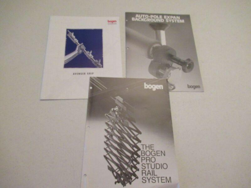 Bogen Avenger Grip, Auto-Pole Background System,Pro Studio Rail System Brochures