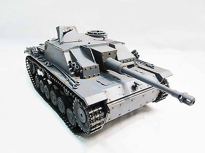 Used, Complete Metal 1/16 Mato Stug III KIT Infrared Recoil RC Tank Grey Color 1226 for sale  Shipping to Ireland