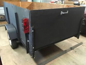 4 by 8 utility trailer with sides