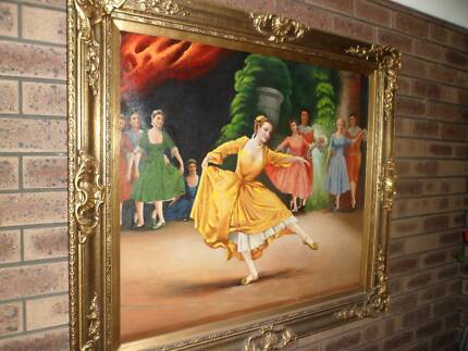 Classical ballet oil painting