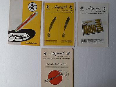 ----- ARGUMENT----- 50's BROCHURES  CATALOGS  PRICE LIST