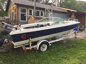 Crestliner 19ft bowrider with 115hp Yamaha outboard
