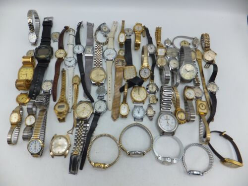Lot Of 55+ Timex Quartz, Indiglo, Electric Mens / Womens Watches - Sold As-Is