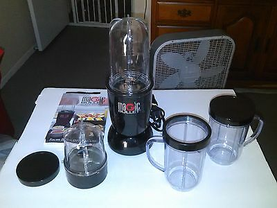 The Original Magic Bullet Set Blender Mixer Kitchen Black Edition