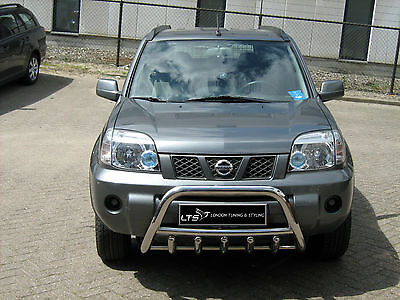 NISSAN X-TRAIL STAINLESS STEEL CHROME AXLE NUDGE A-BAR, BULL BAR 2001-2007