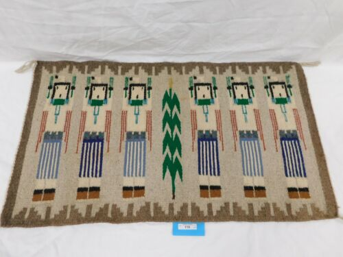 119/222 AUTHENTIC NAVAJO RUG ~ WOVEN BY VIVIAN BLUEYER OF FOUR CORNERS IN 1995 ~