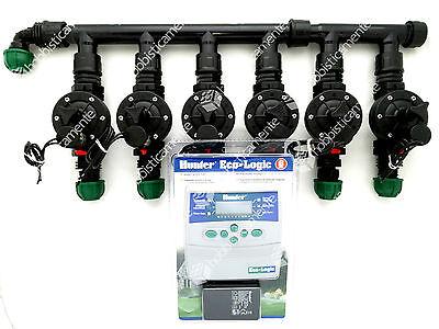 Kit Irrigation Programmer Hunter 6 Zone Solenoid Valve Lawn Garden Toro