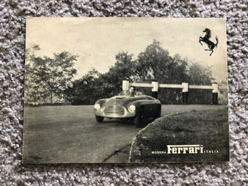 1950s Ferrari 166  Millemiglia original factory printed sales literature.