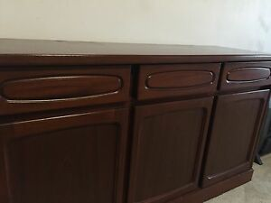 Vintage Solid Wood Dark Wood Buffet St Leonards Willoughby Area Preview