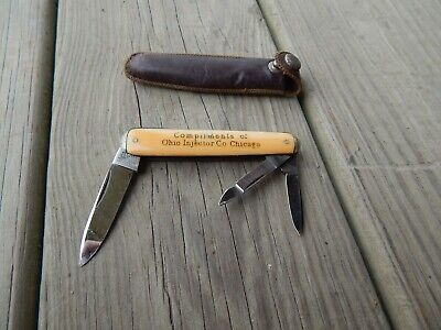 1930s Handbags and Purses Fashion 1930's IXL G. Wostenholm 3 Blade WHITTLER PEN KNIFE w/purse MINT Advertising  $93.75 AT vintagedancer.com
