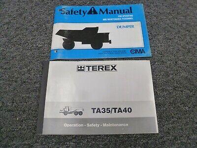 Terex Ta35 Ta40 Articulated Dump Truck Owner Operator Maintenance Manual Set