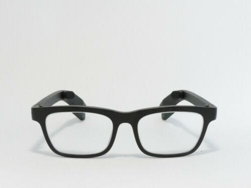 VUE BY VIGO CLASSIC SMART GLASSES BONE CONDUCTION ACTIVITY TRACKING BLACK RX NEW