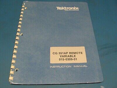 Tektronix Cg 551ap Remote Variable Head 015-0309-01 Service Manual