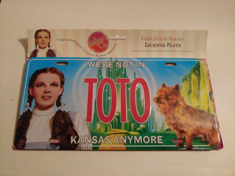 Brand New The Wizard of OZ Sign of the Times TOTO Metal License Plate 12 x 6