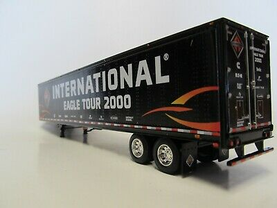 DCP 1/64 SCALE UTILITY DRY VAN TRAILER, BLACK, INTERNATIONAL EAGLE TOUR 2000 2