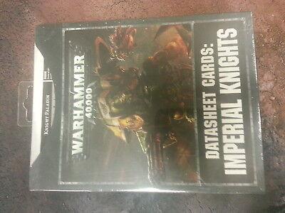 WARHAMMER 40K IMERIAL KNIGHTS DATASHEET CARDS - NEW AND SEALED