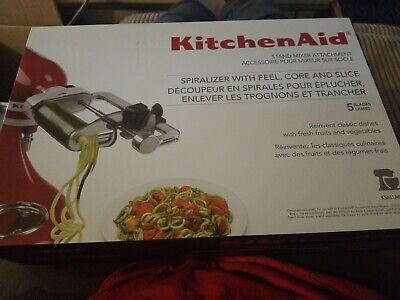 KitchenAid 5 Blade Spiralizer with Peel, Core and Slice, KSM1APC