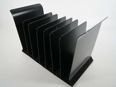 Industrial Metal Desk Organizer Small Vtg 7 Slot File Holder Mcm Office Storage