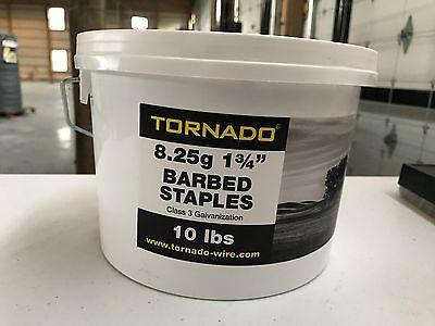 Tornado 8.25g 1.75 Barbed Staples 10 Lbs