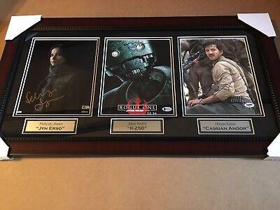 Felicity Jones Diego Luna Tudykk Signed Framed Star Wars Rogue One Photo Collage