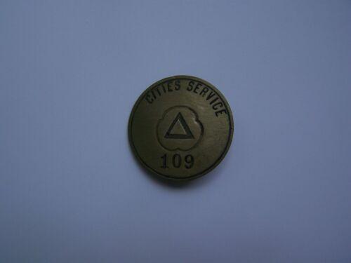 Vintage Cities Service Badge CITGO Metal Gas Gasoline Pin