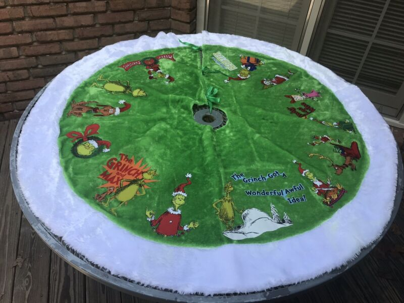 GRINCH Christmas Tree Skirt ..Hand-Crafted
