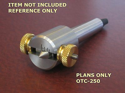 MINI LATHE OFFSETABLE TAILSTOCK CENTER -BUILD PLANS-OTC-125 fits 7 X mini lathes