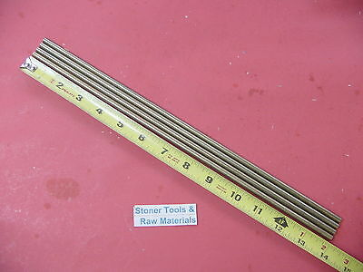 4 Pieces Of 14 C360 Brass Solid Round Rod 14 Long .250 Lathe Bar Stock
