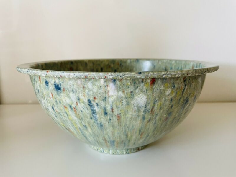 Texas Ware #125 Mixing Bowl Green Confetti Melamine Melmac Speckled
