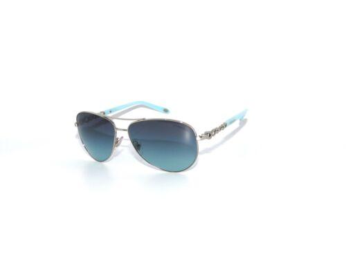 Tiffany & Co 3049B 6001/9S Silver Blue Aviators  sunglasses