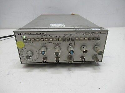 Hp Hewlett Packard 3312a Function Generator Vintage Lab Unit