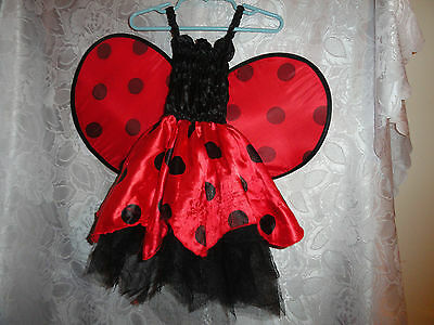 TODDLER'S RED LADY BUG HALLOWEEN COSTUME/DRESS UP DRESS-SIZE UP TO 24 MONTHS](Toddler Bug Costume)