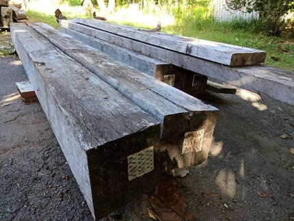 4 x Seasoned Hardwood Posts 240 x 240