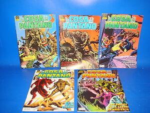 Lote-de-comics-LA-COSA-DEL-PANTANO-5-numeros-n-1-al-5-ediciones-Zinco
