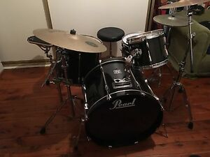 Pearl Export 5pc Drum Kit w/ cymbals, hardware and extras Kensington Eastern Suburbs Preview
