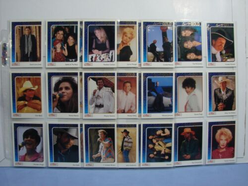 27 Trading Cards 1991 CMA Country Gold Series 1 UV-Coated Gold Leaf Inserts RARE